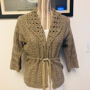 Wool Blend Cardigan/ Sweater